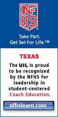 The UIL is proud to be recognized by the NFHS for leadership in student-centered Coach Education.