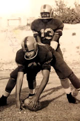1940 PVIL Champs Ft. Worth I.M. Terrell - Johnny Kennard and quarterback Kelton Winston.