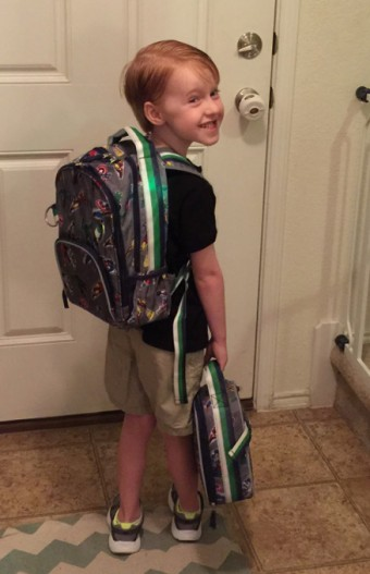 Graham on his first day of school