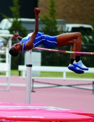 When Brigetta Barrett was at Duncanville High School she brought home the 5A high jump state championship in both 2008 and 2009. At the London Olympics, she won the silver for the same event.