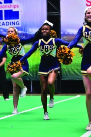 """UIL is the first state to hold a """"Game-Day"""" style state competition where squads are given game scenarios and expected to choose and perform the right cheer for the scenario."""